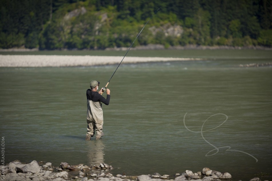 fishing at the Laidlaw Bar; Fraser River