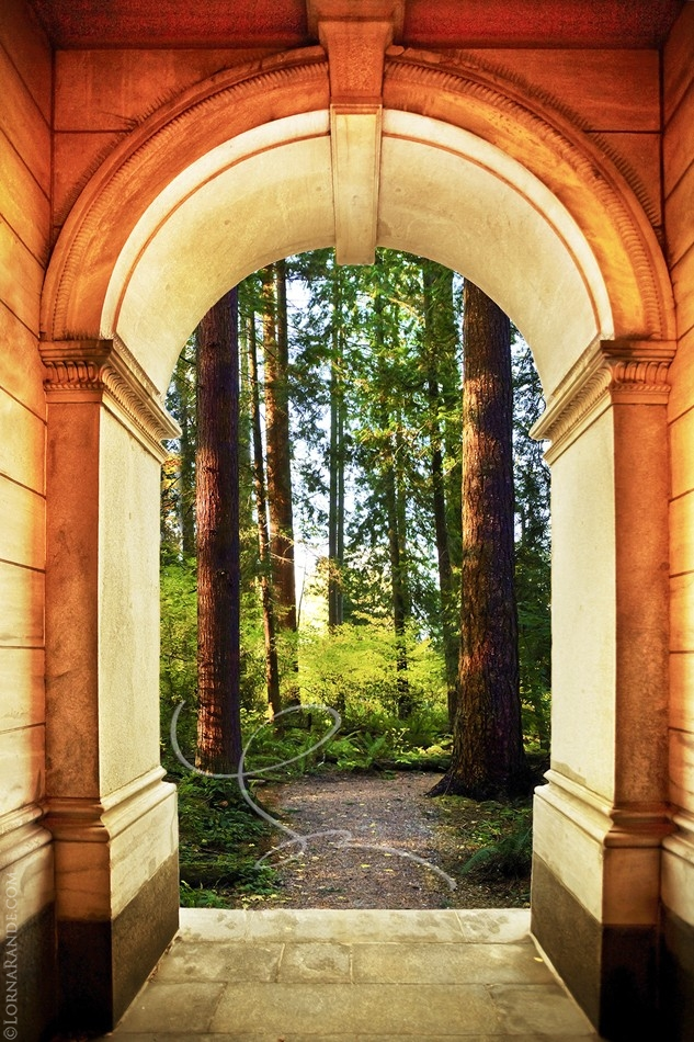 Quebec Arch 'Selected for Exhibition' PPOC-BC in 2010. Arch:Quebec, QB/ Forest: Green Timbers, Surrey, BC.